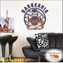Adesivo De Parede Salão De Barbearia Cabelos Barba Will407