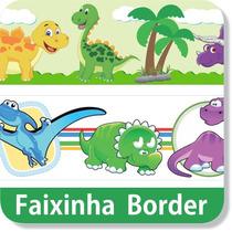 13 Faixas Border Adesivo Parede Dinossauro Alta Resolução