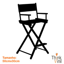 Adesivo Cinema - Cadeira Diretor - 50cm X 30cm | Think Vinil