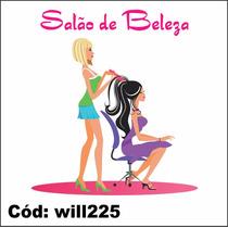 Adesivo De Parede Cabelo De Mulher Salão De Beleza Will225