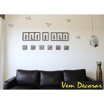 Adesivo Decorativo Gaiola E Pássaros - Sala Quarto Cozinha