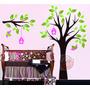 Adesivo De Parede Decorativo Árvore Galho Bebê Infantil