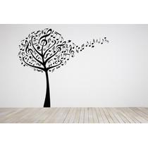 Adesivos Parede Decora Árvore Notas Musicais Musica Natureza