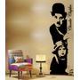 Adesivo Parede Charlie Chaplin Gigante 1,5metro Frete Grátis