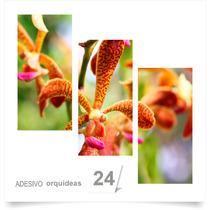 Painel Adesivo Parede Decorativo Flores Orquidea Quarto 24