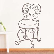 Adesivo Decorativo Cadeira Antiga - Tamanho Pequeno