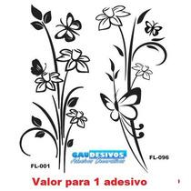 Adesivo Decorativo De Parede + 150 Modelo Floral, Vidro, Box