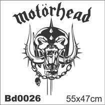 Adesivo Bd0026 Motorhead Rock Decoração Parede