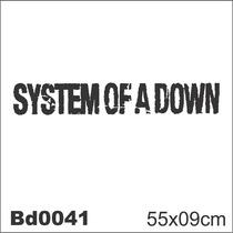 Adesivo Bd0041 System Of A Down Rock Decoração Parede