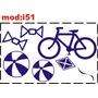 Adesivo I51 Bicicleta Bicicletinha Pipa Bolas Bolinhas Balas