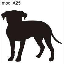 Adesivo A25 Cachorro Vira-lata Preto Decoração Parede