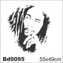 Adesivo Bd0095 Bob Marley Reggae Decoração Parede