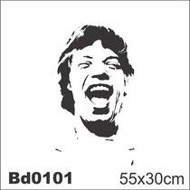 Adesivo Bd0101 Mick Jagger Rosto Rock Decoração Parede