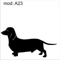 Adesivo A23 Cachorro Salsicha Basset Decoração Parede