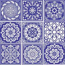 Adesivo Parede Ladrilho Faixa Azulejo Português - Kit 9 Un