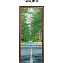 Adesivo Imp52 Decorativo Para Porta Paisagem Arvores Folhas