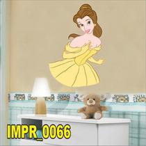 Adesivo Imp66 Desenho Disney Princesa Bela E A Fera Vestido