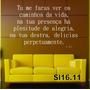 Adesivo Sl16.11 Tu Me Farás Ver Os Caminhos Da Vida, Na Tua