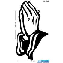 Adesivo Decorativo Mãos Oração Serve Guarda Roupa