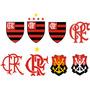 Kit Adesivo 8 Escudos Da História Do Flamengo Frete Gratis