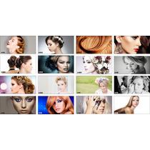 Adesivo Maquiagem Manicure Salao Cabelo Penteado 4 Imagens