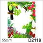 D2119 Adesivo Decorativo Paisagem Tucano Beija Flor Flores