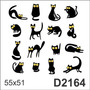 D2164 Adesivo Decorativo Gato Gatinho Olhos Grandes