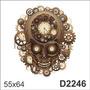 D2246 Adesivo Decorativo Relogio Forma De Caveira Antigo