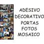 Adesivo Decorativo Portas Personalizado Fotos Mosaico