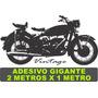 Adesivo De Parede Moto Bike Harley Gigante 2metros X 1 Retrô
