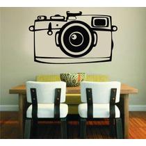 Adesivo De Parede Câmera Fotográfica Antiga Retrô Foto