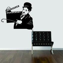 Adesivo Decorativo Parede Filme Charlie Chaplin Claquete