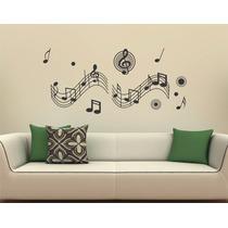 Adesivo Decorativo De Parede Música Notas Musicais Rock