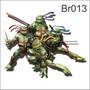 Adesivo 125cm Larura X 90cm Altura Tartarugas Ninjas Br013