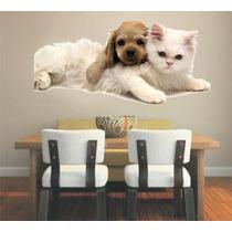 Adesivo Decoração Parede Pet Shop Gato Cachorro Animais
