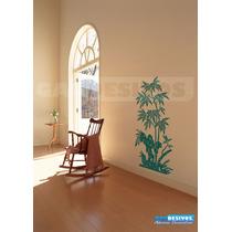 Adesivo Decorativos Floral Tronco E Folhas De Bambu