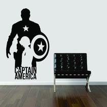 Adesivo De Parede Capitão América Escudo Estrela Super Herói