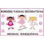 Borders Faixas Decorativas Paredes Meninas Flores Bonecas