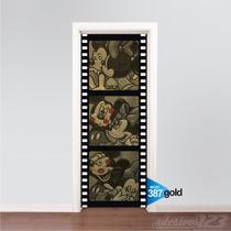 Adesivo 123 Decorativo Porta Minnie Mini Minie Mickey Mouse
