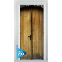 Adesivo 123 Porta Cofre Antigas Madeira Pedra Mod 299