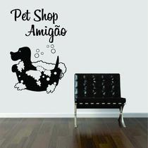Adesivo Parede Pet Shop Cachorro - Personalizamos Com Nome