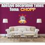 Adesivo Time De Futebol - Decorativo Tema Chopp - 50x40cm