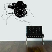 Adesivo Decorar Parede Câmera Fotográfica Foto Filme -grande