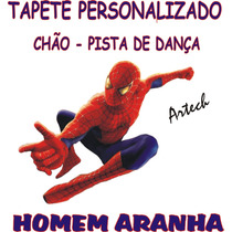 Homem Aranha Tapete Personalizado Festas Chão Pista Salão