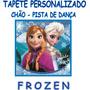 Frozen Tapete Personalizado Anivesários Chão Salão Nome Data