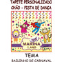Tapete Personalizado Chão Festa Salão Infantil Tema Carnaval