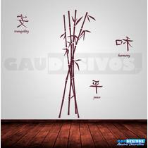 Adesivo Decorativos Floral Arranjo Bambu