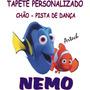 Tapete Personalizado Chão Aniversário Festa Salão Tema Nemo