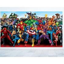 Adesivo Parede Quarto Super Heróis Os Vingadores