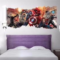 Adesivo Para Parede Em 3d - Marvel - Avengers - Decoração